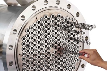 SMXL™ heat exchanger for heating of high-viscosity polymer melts, tailored for optimized devolatilization