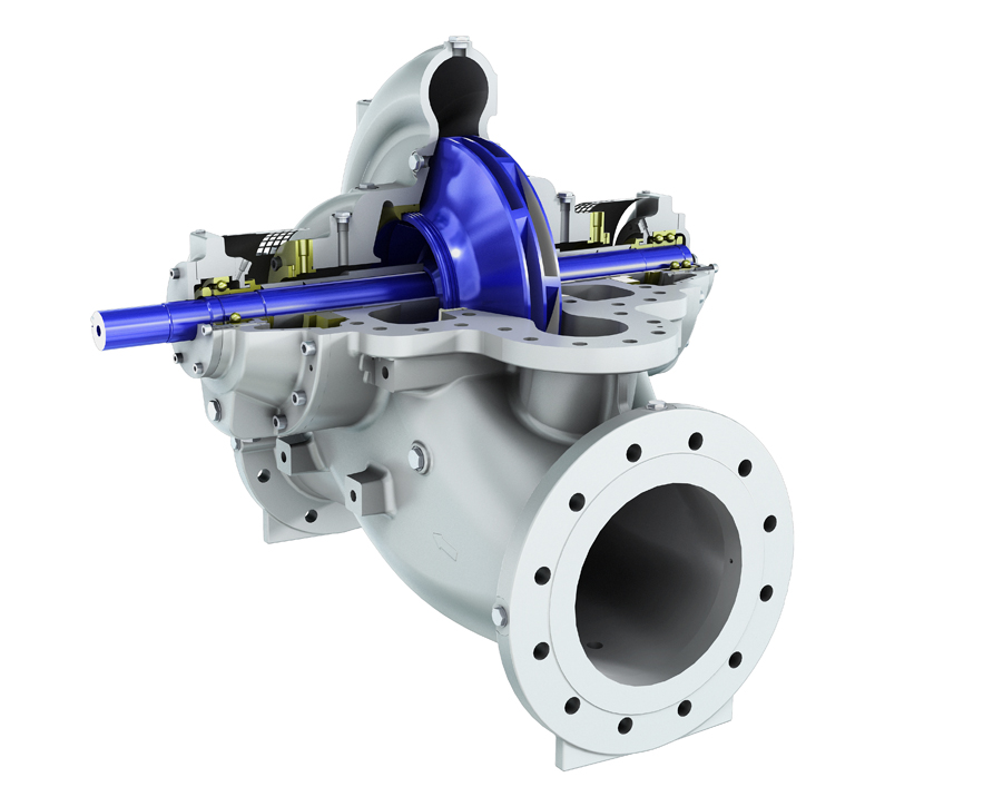 Z22 double suction axially split single stage centrifugal pump