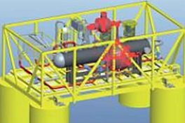 Graphic of an installation for subsea processing