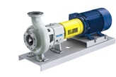 CPE ANSI process pump with baseplate
