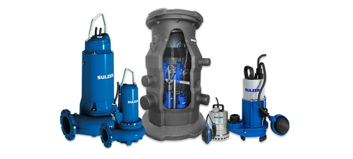 Submersible pumps and lifting stations for domestic and commercial wastewater applications