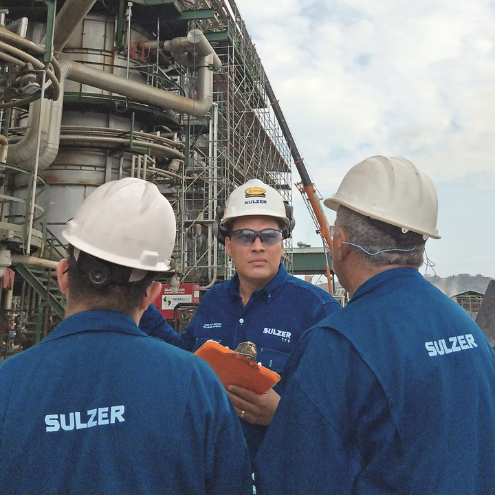 Service staff from Sulzer