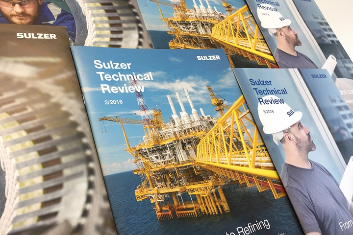 Several covers from the Sulzer Technical Reviews