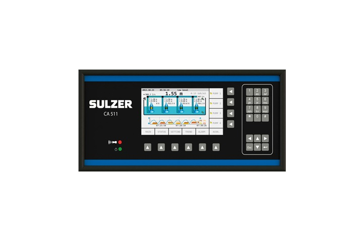 The graphical operator interface type ABS CA 511 is used for monitoring of pumping stations