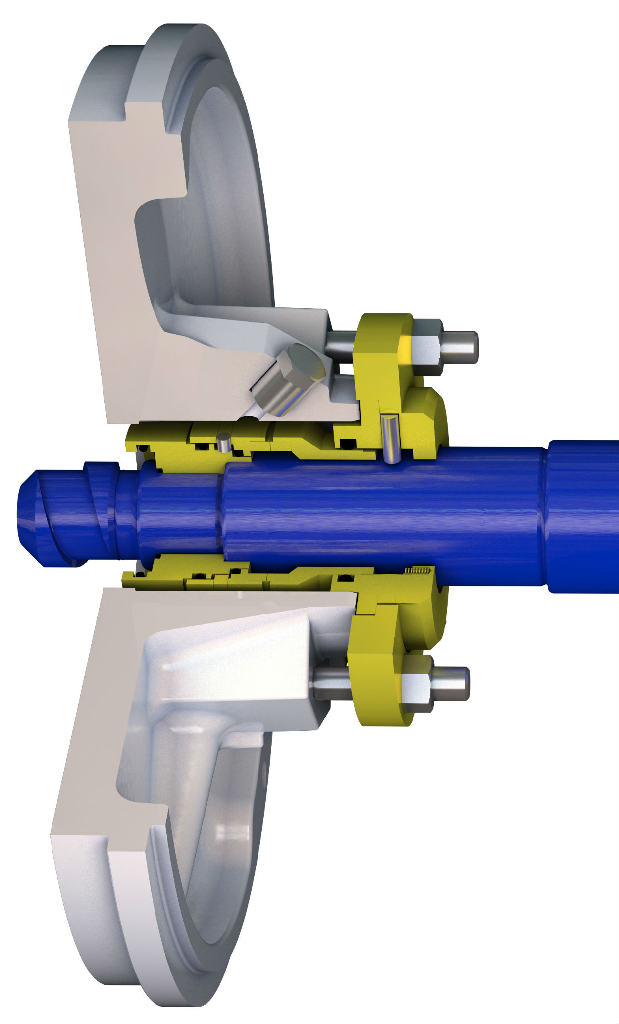 TB1 ready-fitted single mechanical seal cut-through