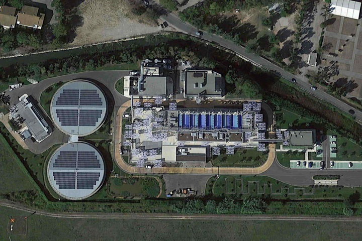 Wastewater treatment plant Aquaviva Cannes France