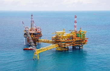 Offshore platform in Malaysia