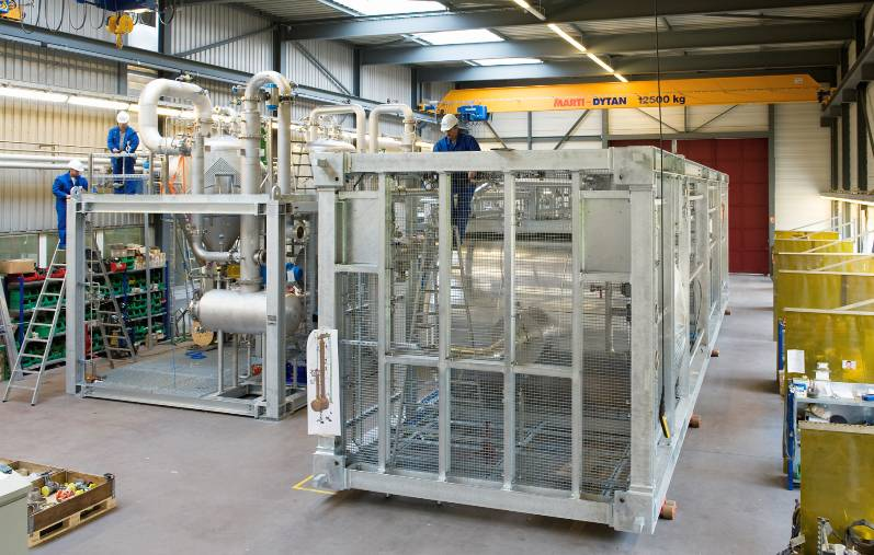Fast, clean and reliable fabrication of a skid-mounted plant in one of our workshops