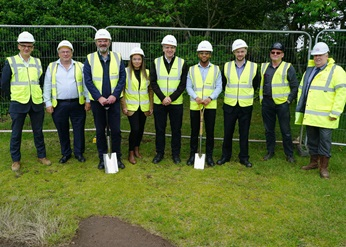 The Birmingham team together at the construction site.