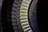Gas Turbine rotor with mounted new blades