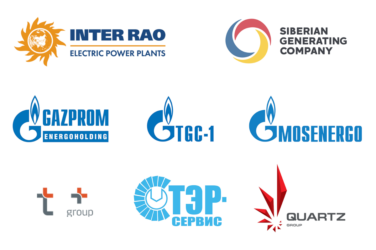 Logos of Sulzer's Turbo Services customers in Russia