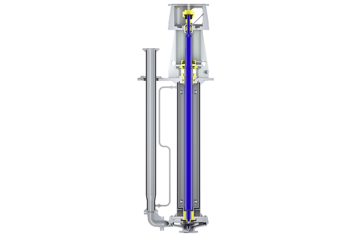 Cantilever sump pump type Ensival Moret VSF is especially designed for molten sulfur applications
