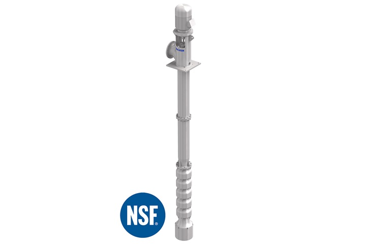 The JTS vertical turbine pumps are certified with the NSF /ANSI 61 certification
