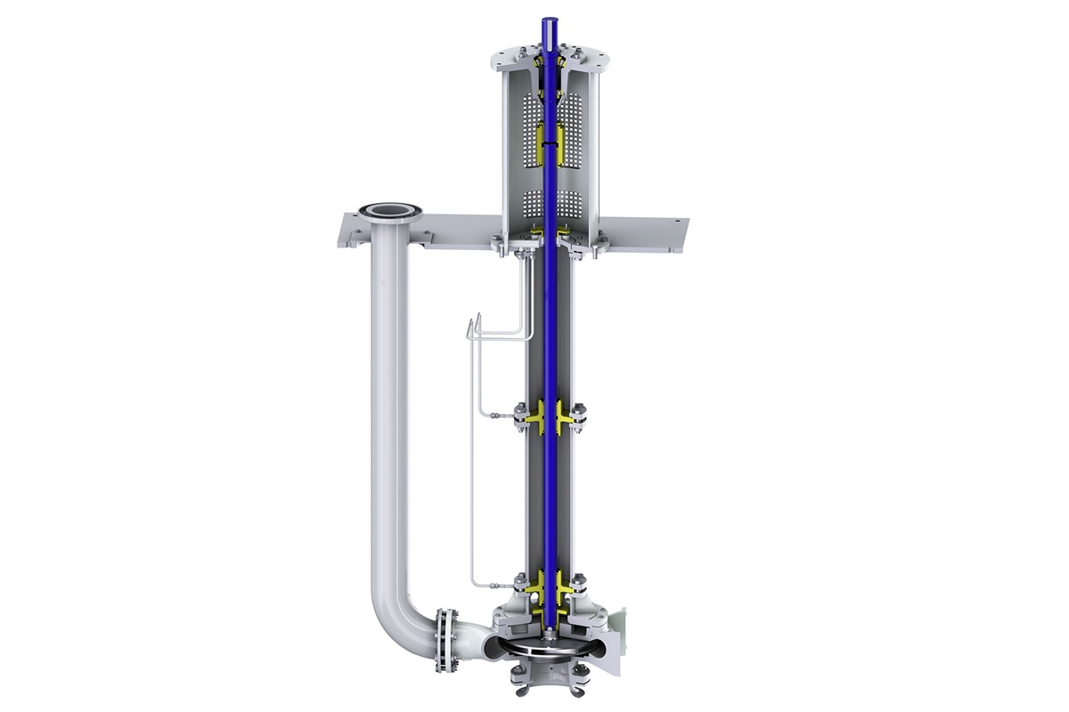 VM vertically suspended sump pump – no sealing system required for clean liquids