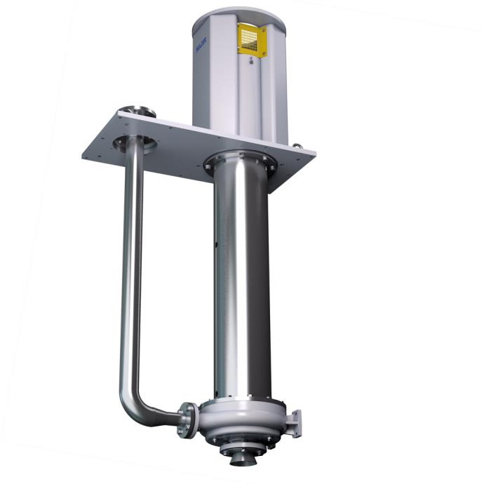 AHLSTAR NK non-clogging and WK wear-resistant vertical cantilever sump pumps