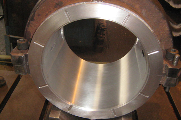 Bearing repairs with white metal/babbitt to extend product lifetime
